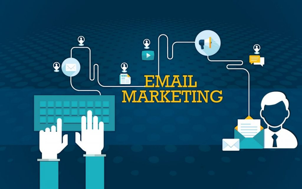 header image for email marketing with mailing icons